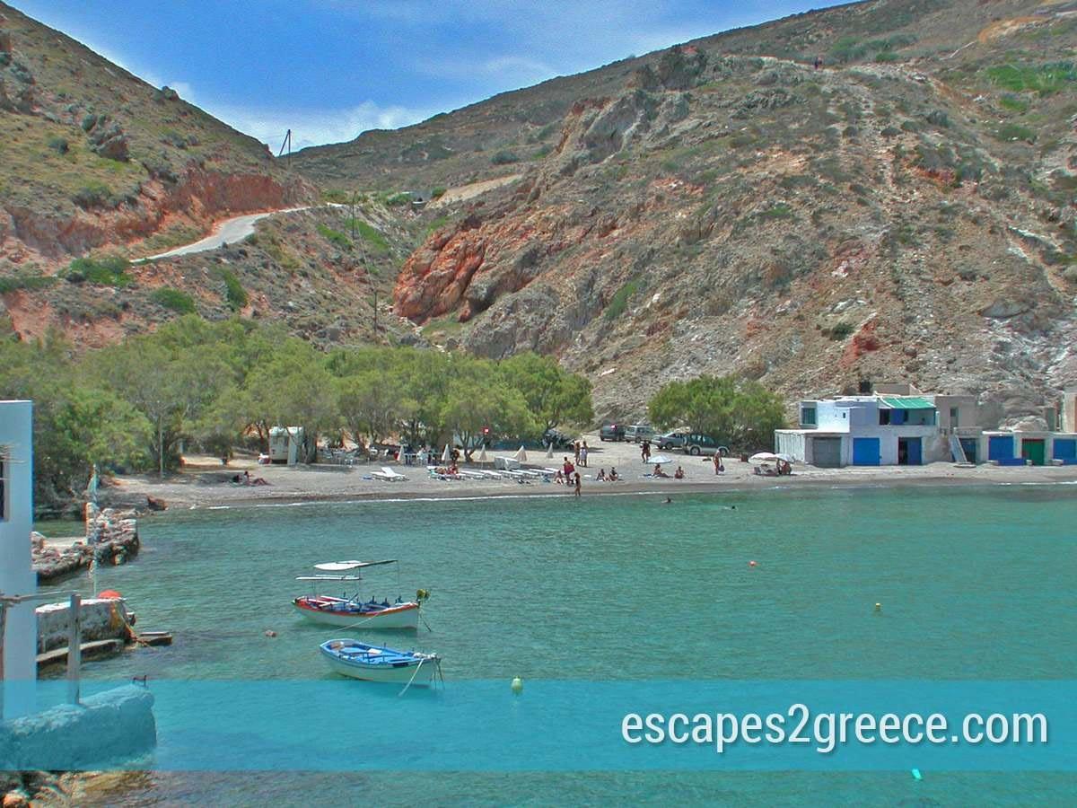 Milos island beaches
