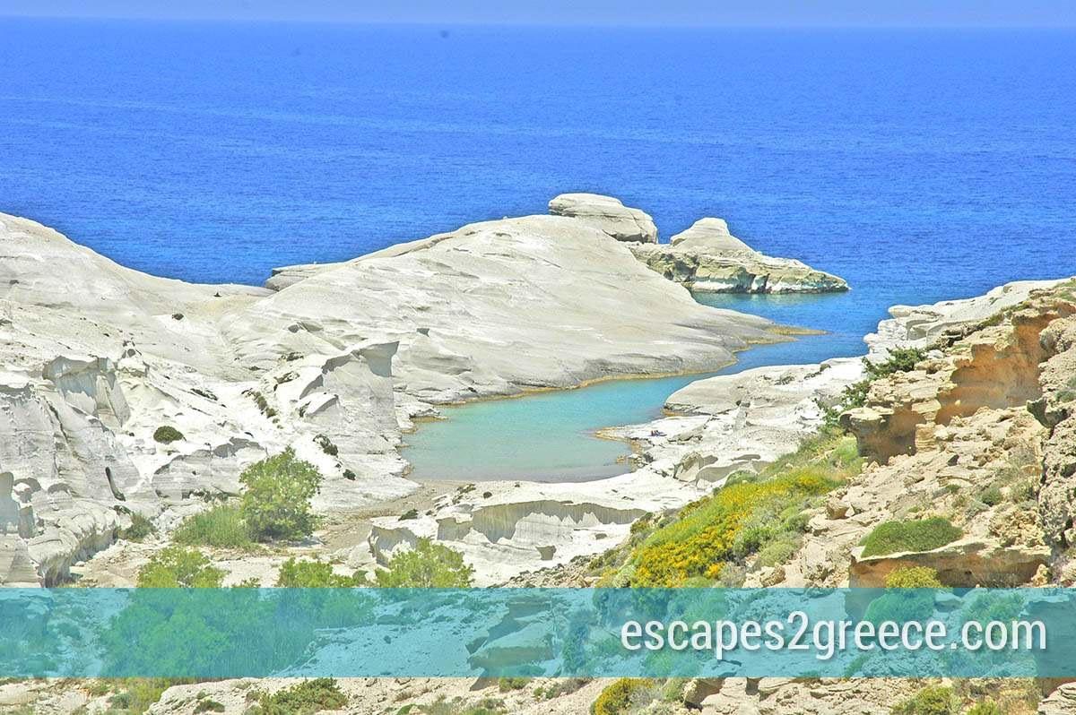 Sarakiniko beach at Milos island in Greece