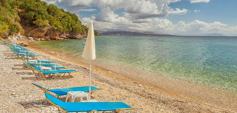 Ipsos beach in Corfu